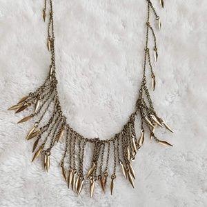Anthropologie Deergrass Fringe Necklace, NWOT